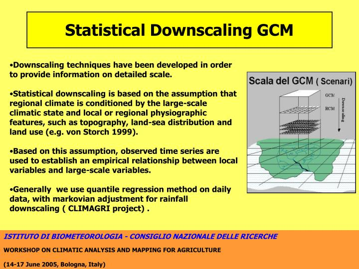 Statistical Downscaling GCM