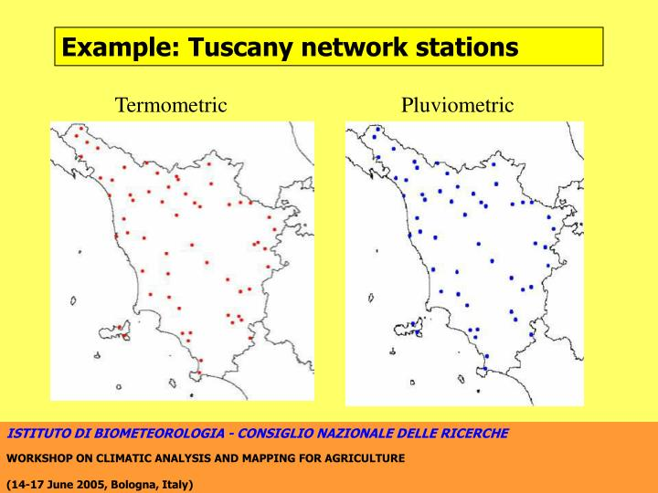 Example: Tuscany network stations
