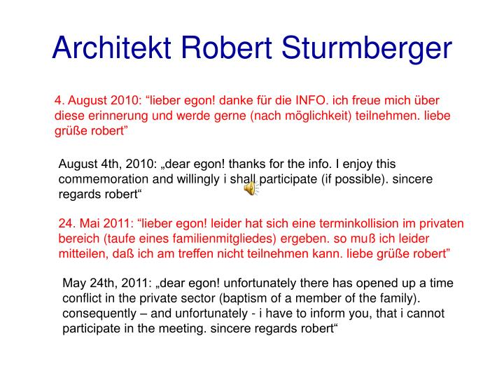 Architekt Robert Sturmberger