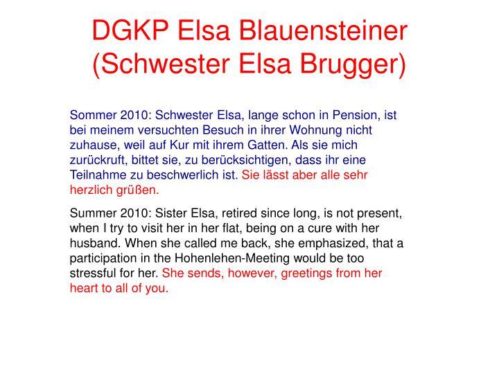 DGKP Elsa Blauensteiner (Schwester Elsa Brugger)