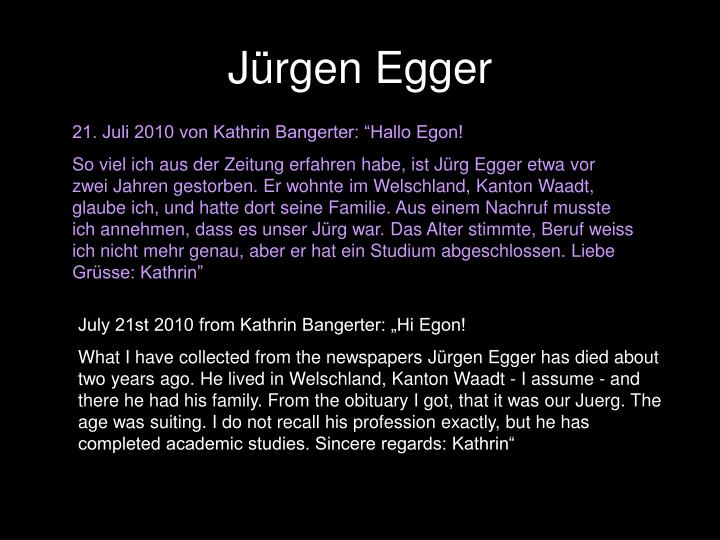 Jürgen Egger