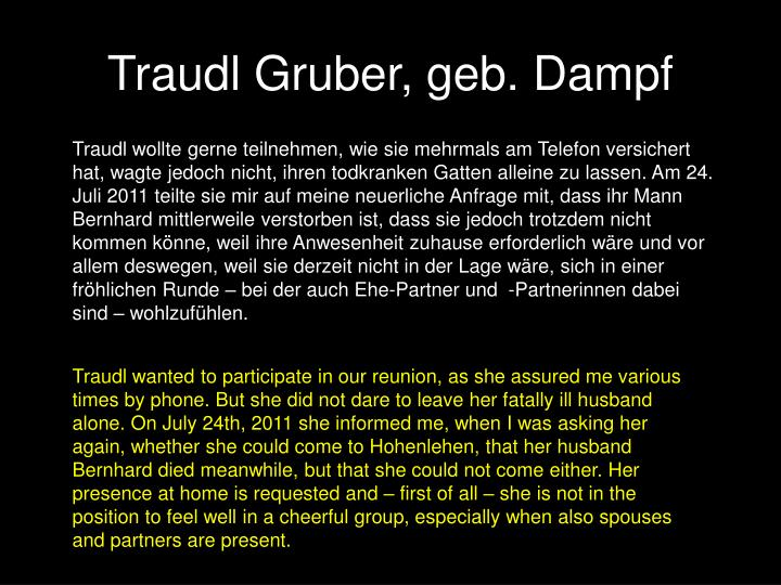 Traudl Gruber, geb. Dampf