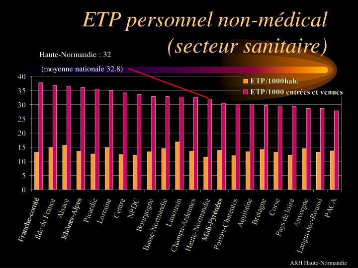 ETP personnel non-médical (secteur sanitaire)