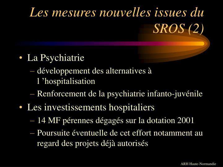 Les mesures nouvelles issues du SROS (2)
