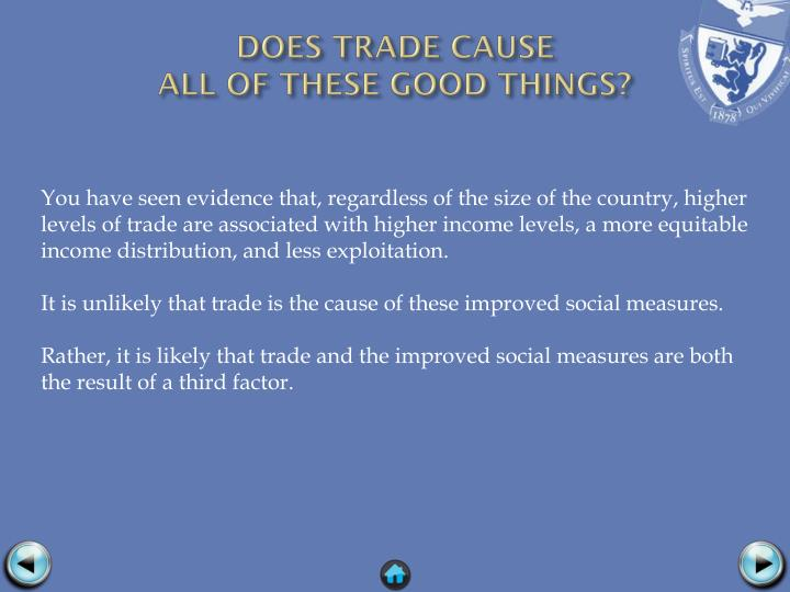 DOES TRADE CAUSE