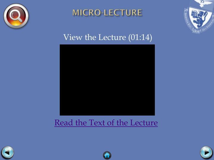 MICRO-LECTURE