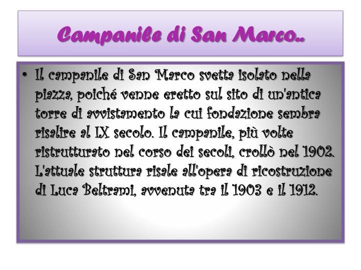 Campanile di San Marco..