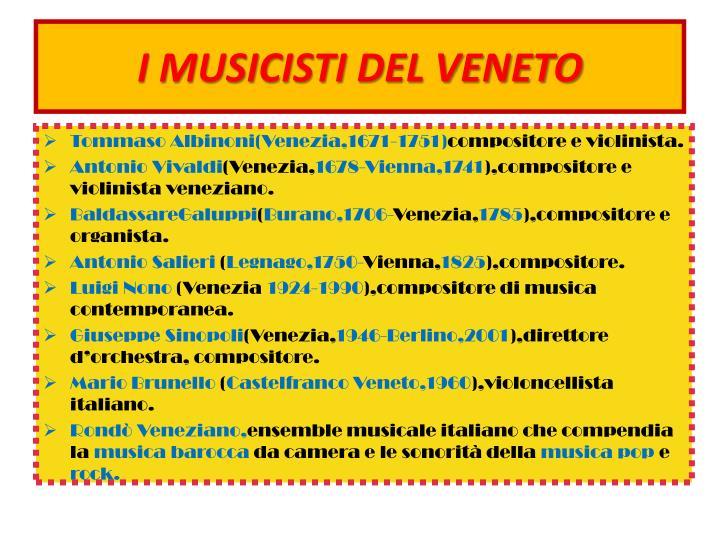 I MUSICISTI DEL VENETO