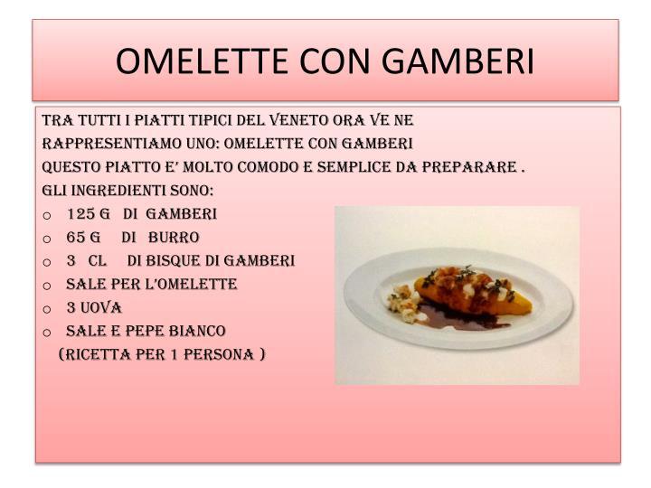 OMELETTE CON GAMBERI