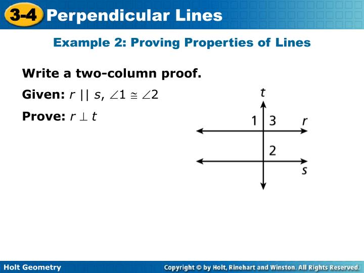 Example 2: Proving Properties of Lines