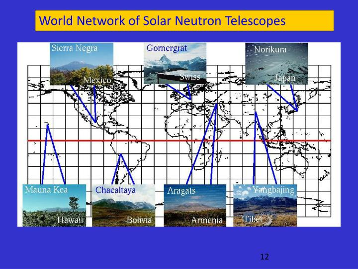 World Network of Solar Neutron Telescopes