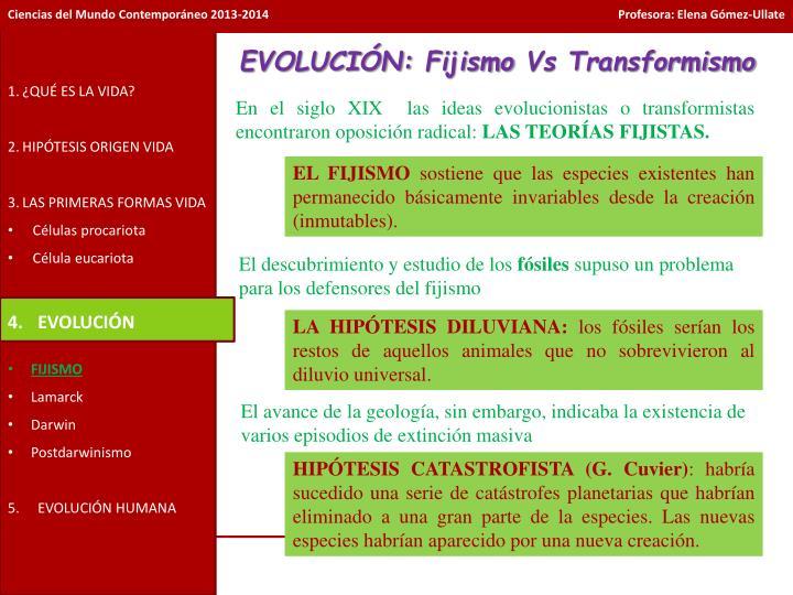 EVOLUCIÓN: