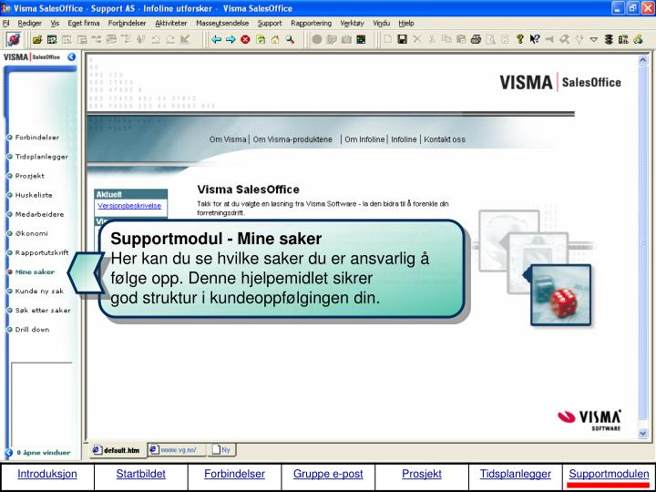 Supportmodul - Mine saker