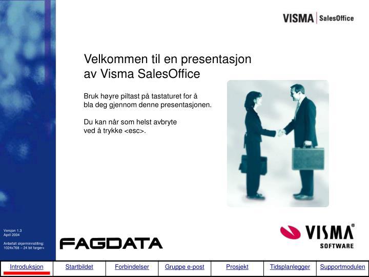 Velkommen til en presentasjon