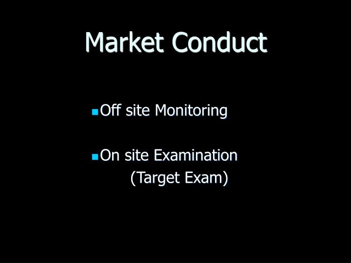 Market conduct