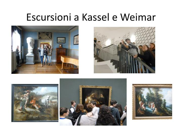Escursioni a Kassel e Weimar