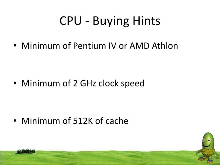 CPU - Buying Hints