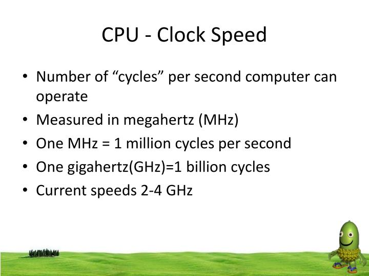 CPU - Clock Speed