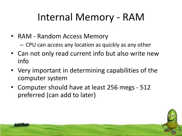 Internal Memory - RAM