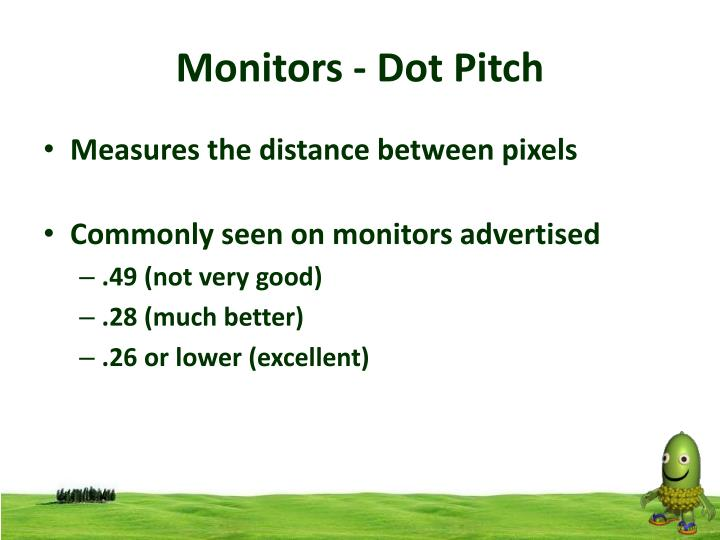 Monitors - Dot Pitch