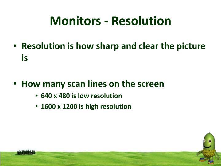 Monitors - Resolution