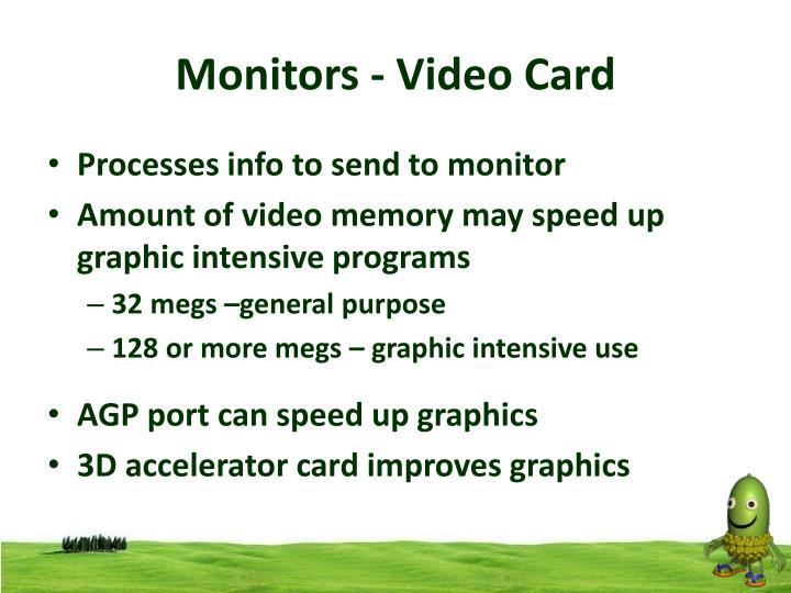 Monitors - Video Card