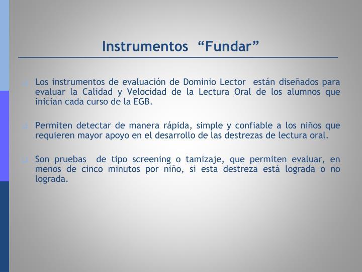 "Instrumentos  ""Fundar"""