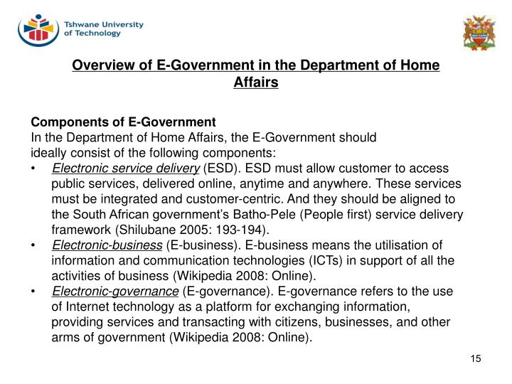 Components of E-Government
