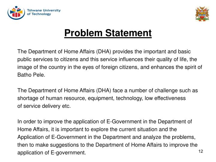 The Department of Home Affairs (DHA) provides the important and basic