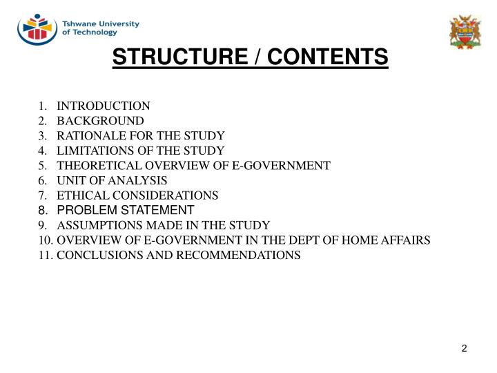 Structure contents