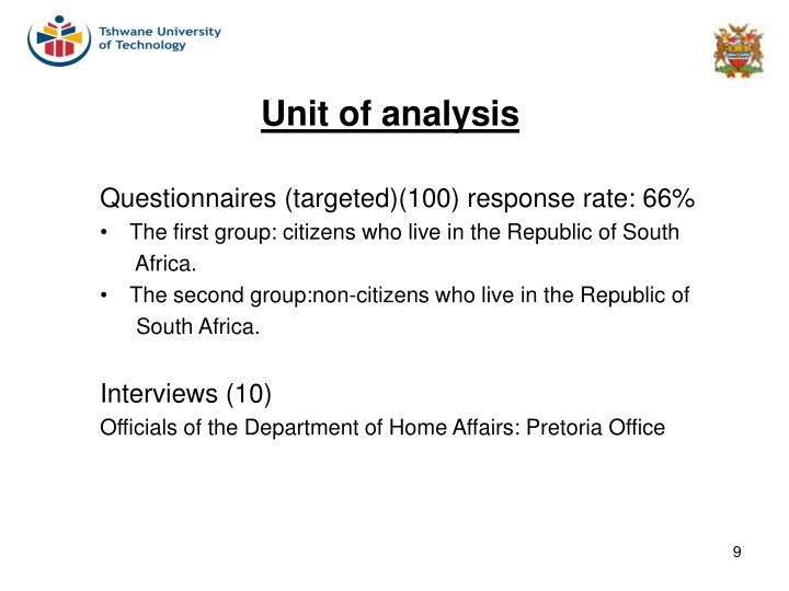 Questionnaires (targeted)(100) response rate: 66%