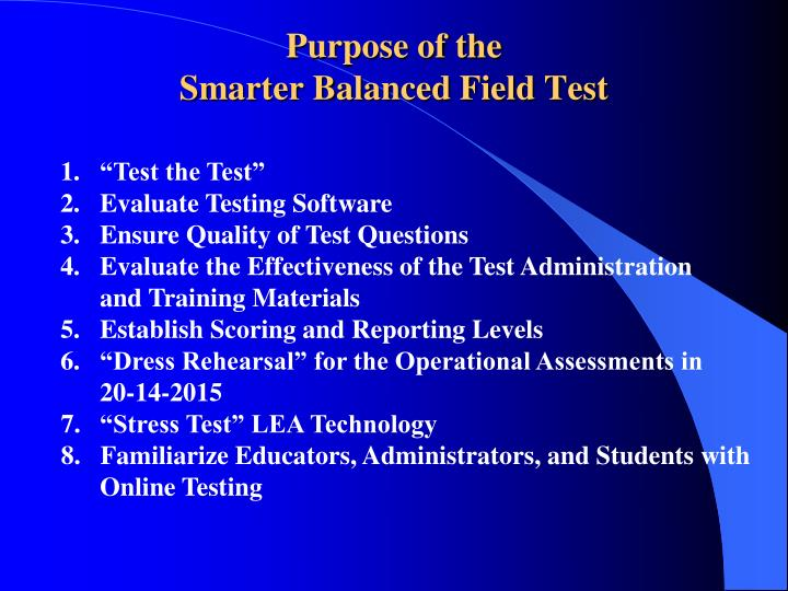 "1. 	""Test the Test"""