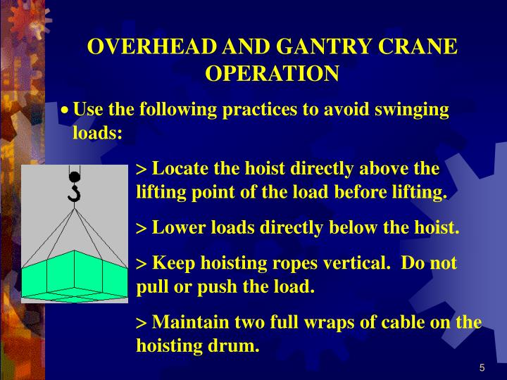 Overhead Crane Safety Points : Ppt overhead crane safety powerpoint presentation id