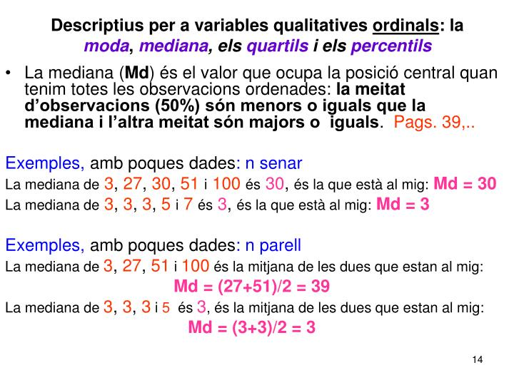Descriptius per a variables qualitatives
