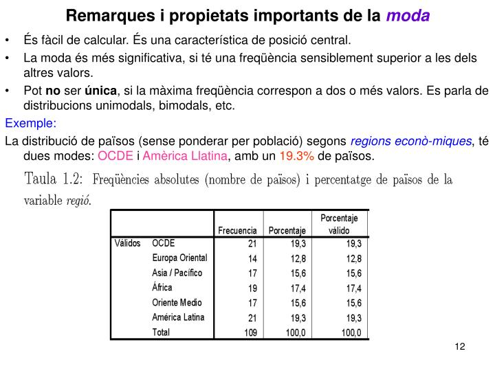 Remarques i propietats importants de la