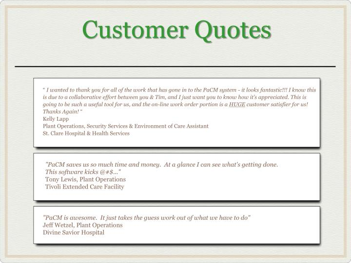 Customer Quotes