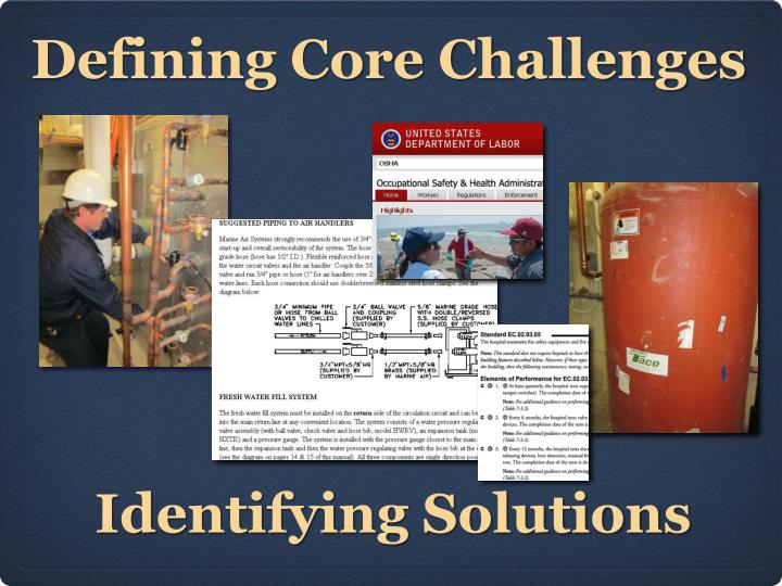 Defining Core Challenges