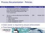 process documentation policies
