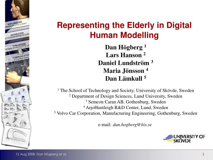 Representing the Elderly in Digital Human Modelling