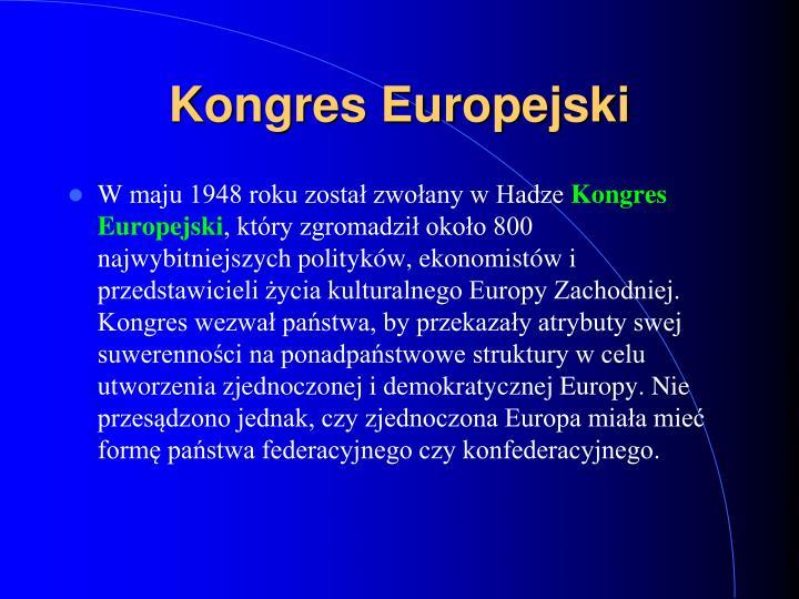 Kongres Europejski