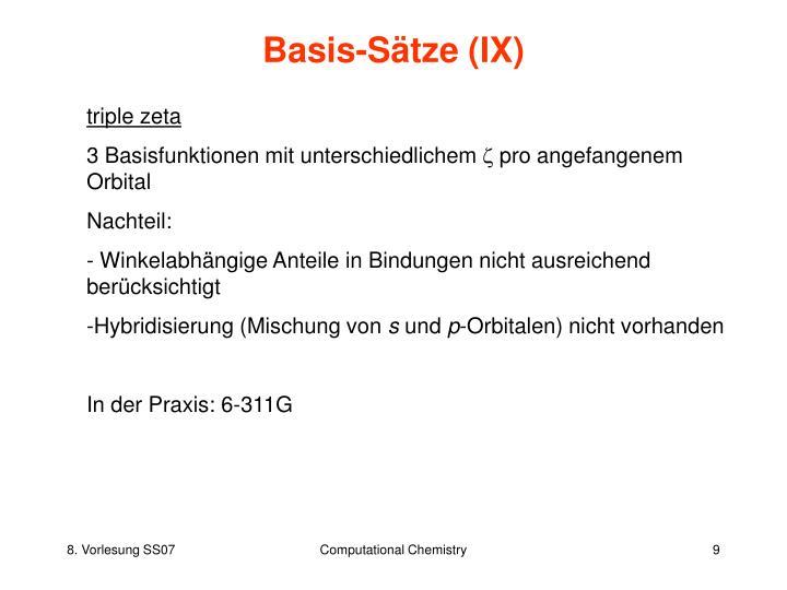 Basis-Sätze (IX)