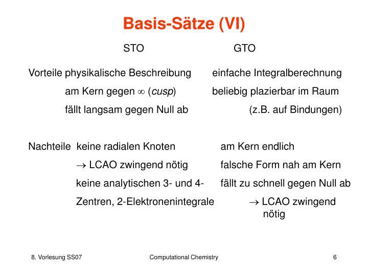 Basis-Sätze (VI)