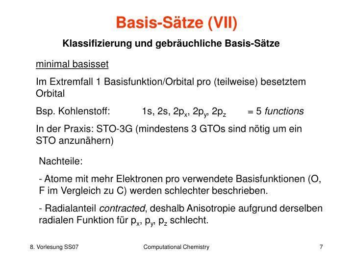 Basis-Sätze (VII)