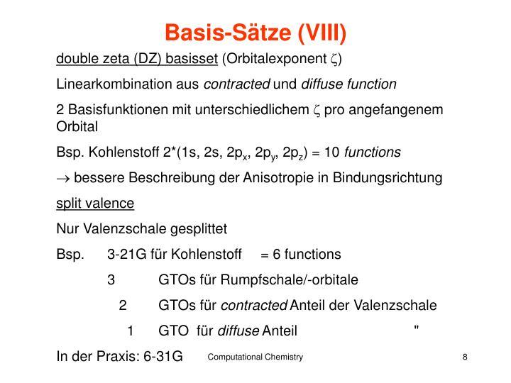 Basis-Sätze (VIII)