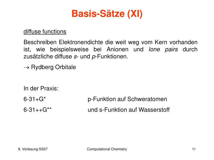 Basis-Sätze (XI)