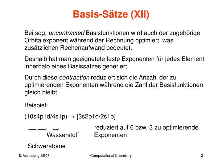 Basis-Sätze (XII)