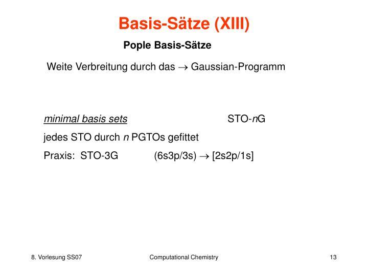 Basis-Sätze (XIII)