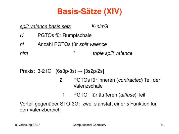Basis-Sätze (XIV)