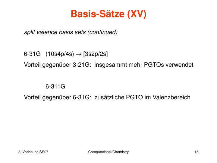 Basis-Sätze (XV)