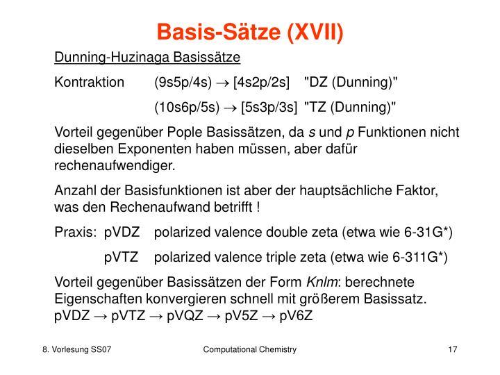 Basis-Sätze (XVII)